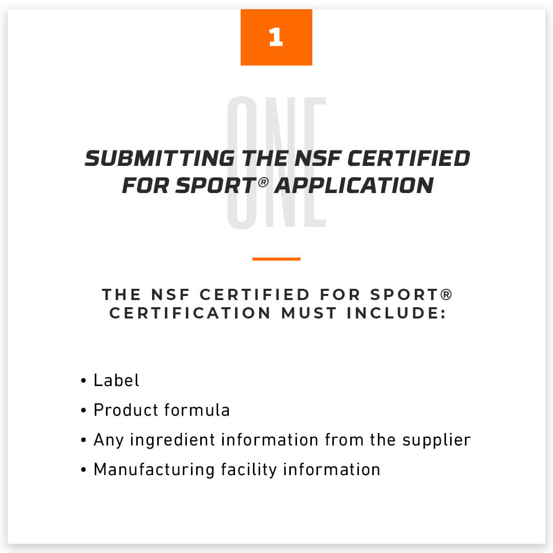 Submitting The NSF Certified For Sport® Application